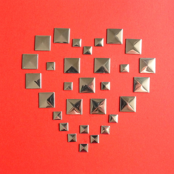 DIY valentine created using stud stickers