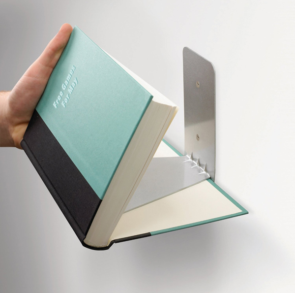 Invisible book shelf umbra