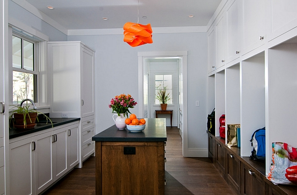 A splash of bright orange for the room