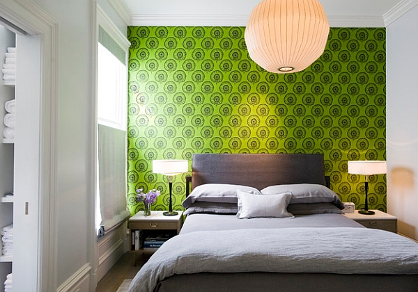 Accent wall idea for those who love their greens