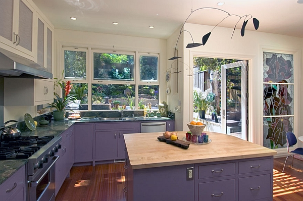 Add a splash of trendy purple to the kitchen