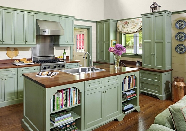 Add a touch of vintage charm to your kitchen with painted cabinets