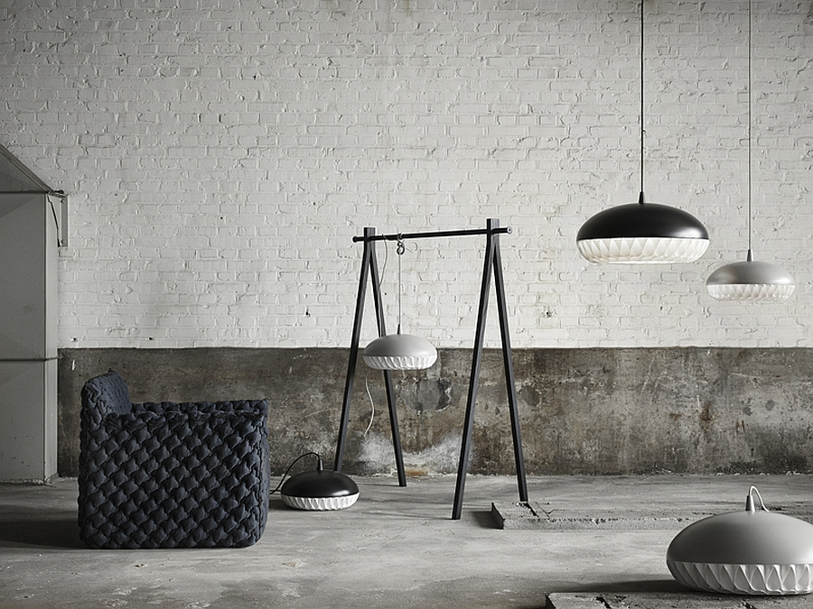Aeon Rocket Pendants by Morten Voss Lightyears Unravels Three Magical Lamps In Stockholm
