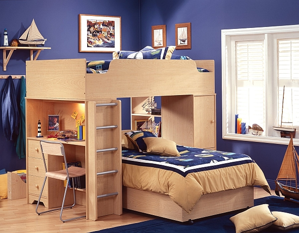 View in gallery Amazing loft bunk bed with an integrated desk!