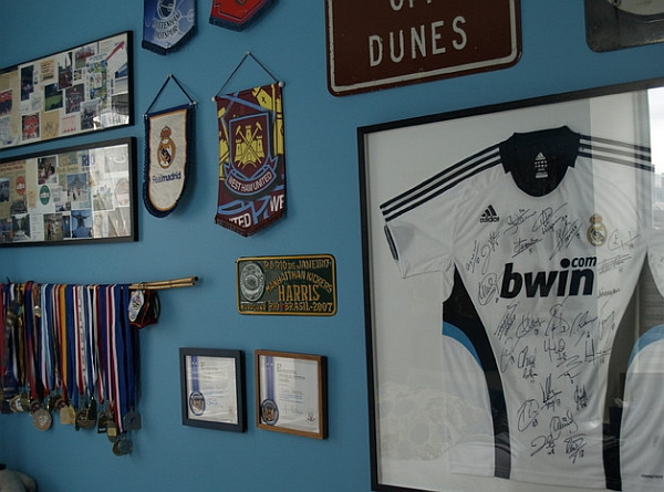 An autographed and framed jersey is always a great conversation starter