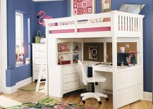 Loft beds with desks underneath are a popular option in the kids' bedroom.  But as you will see, there is no reason why adults cannot take a few hints  from ...
