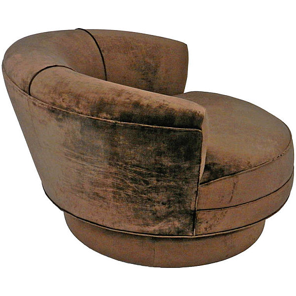 Brown velvet chaise lounge