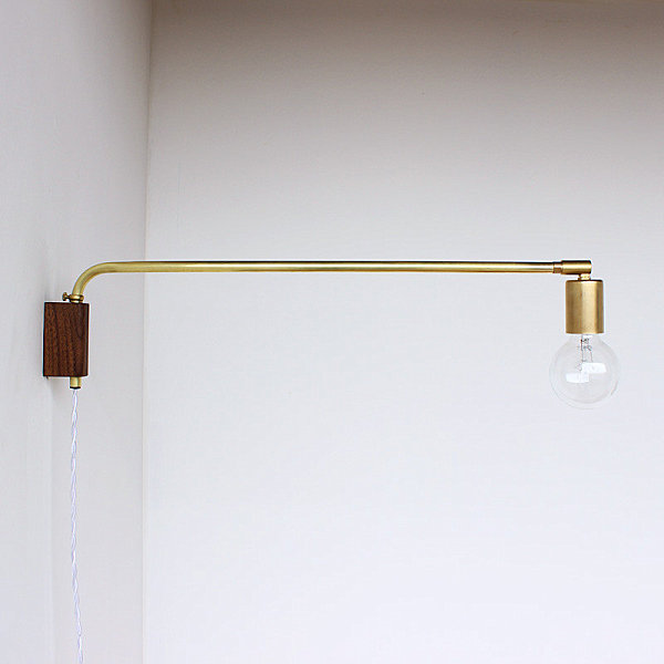 Chic brass swing lamp