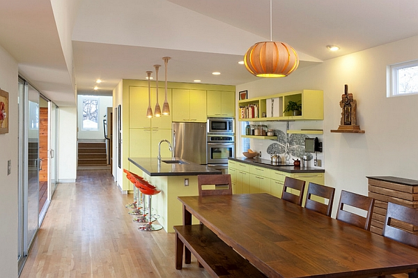 Colorful kitchen cabinetry is here to stay!