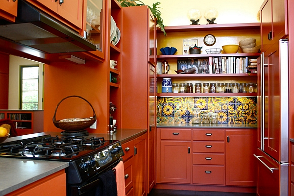 Colorful kitchen keeps you engrossed
