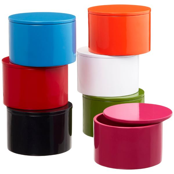 Colorful lacquered boxes 12 Storage Boxes And Baskets That Blend Function And Style