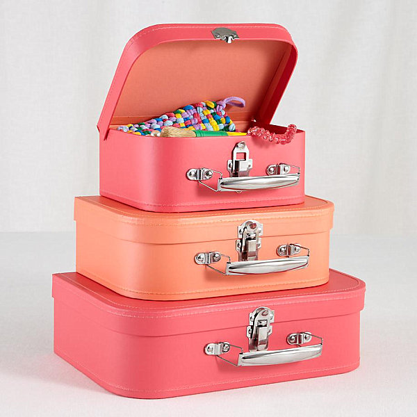 Colorful suitcase set