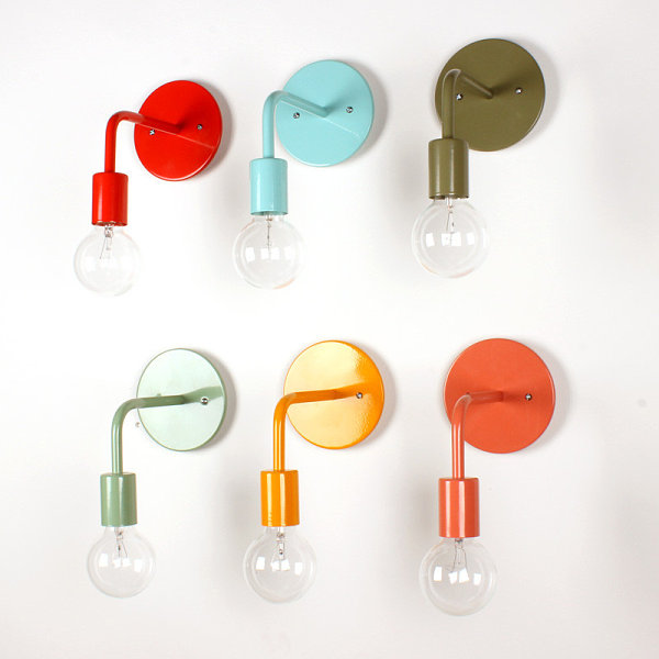 Colorful wall sconces