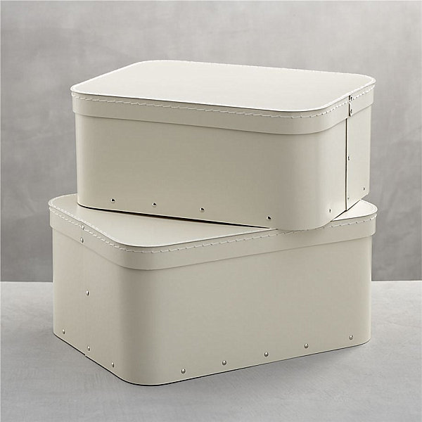 View in gallery Cream storage boxes