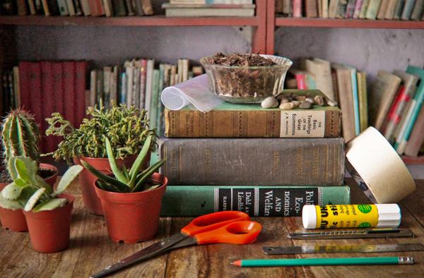 DIY book planter material