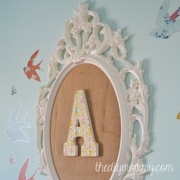DIY fabric-covered monogram