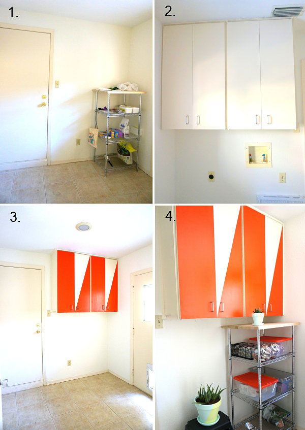 DIY laundry room makeover progress