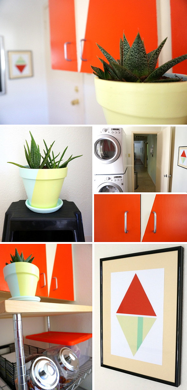 Decorative details from a DIY laundry room makeover