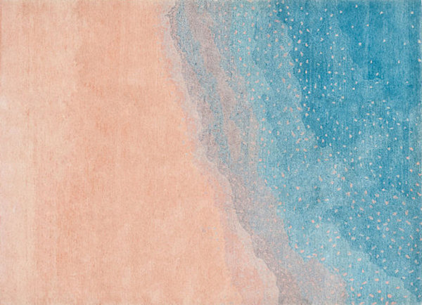 Dreamy peach and blue rug