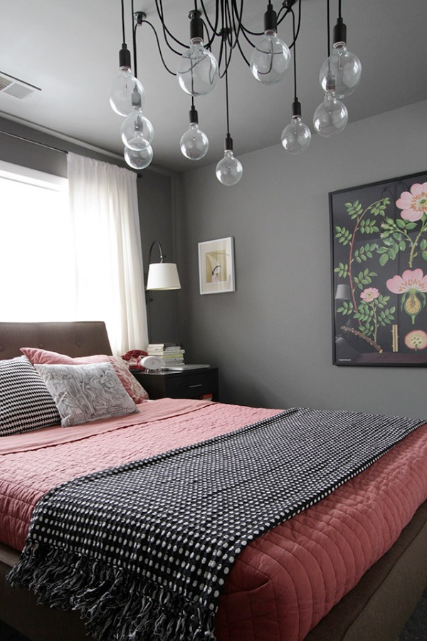 Gray Bedroom Mood : Bedroom chandeliers that set the mood