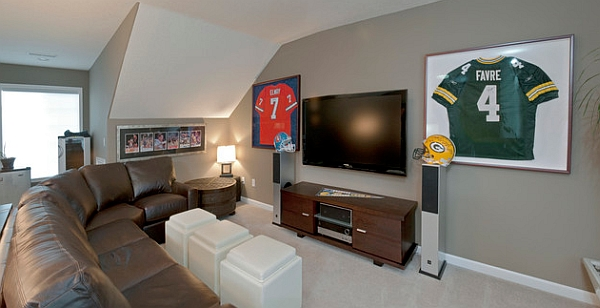 Classy Man Cave Furniture : Man cave sports decor home decorating ideas