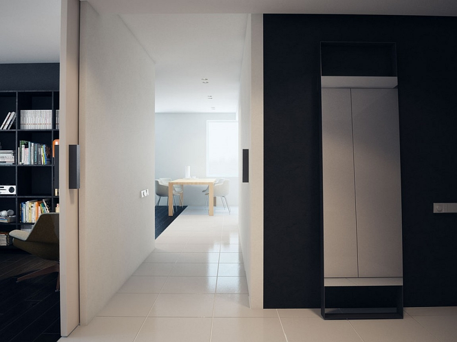 Entryway of the minimalist apartment