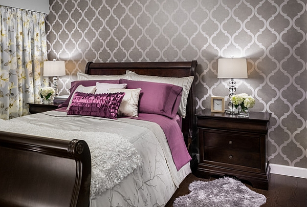 Bedroom accent walls to keep boredom away for Bed wallpaper design