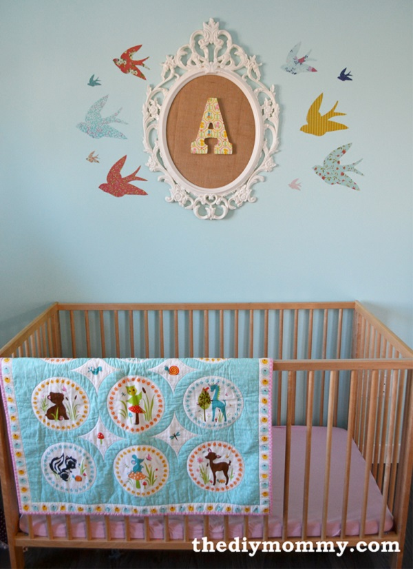 fabric covered letters for nursery - diy fabric wall art ideas and inspirations