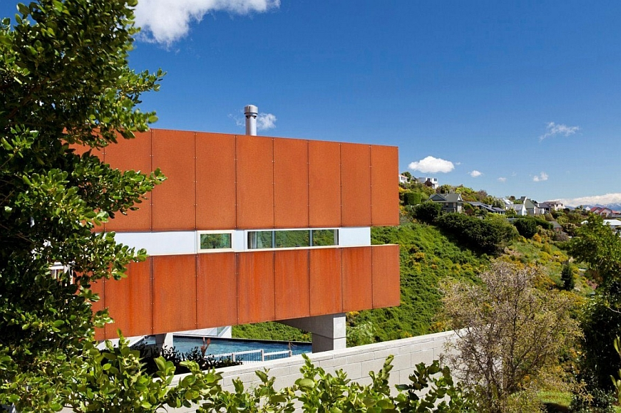 Facade of the Redcliffs House in Christchurch, New Zealand