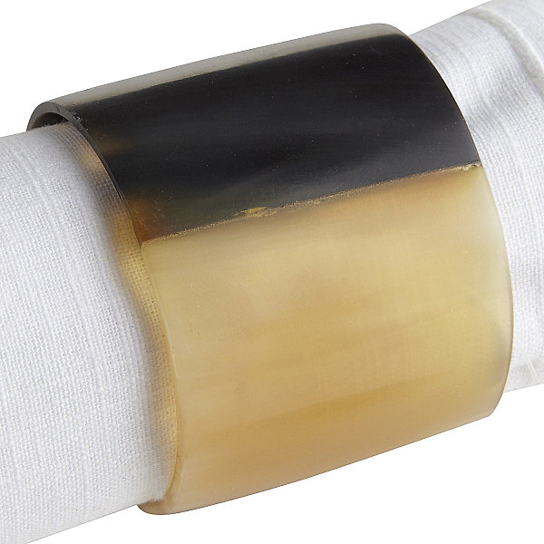 Faux horn napkin ring