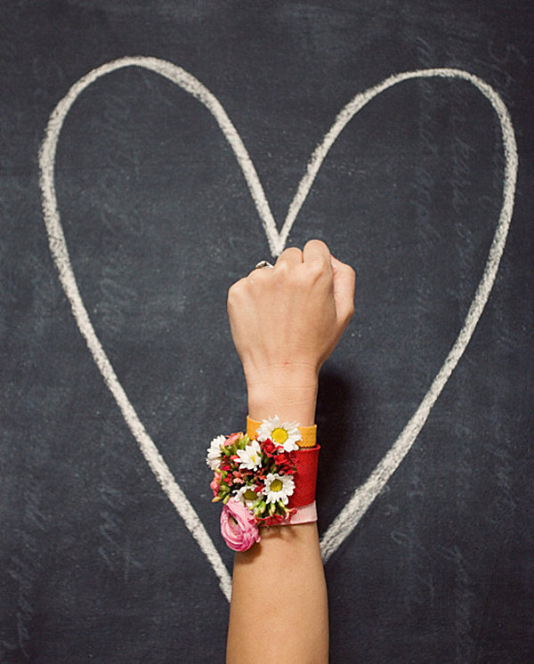 Floral bracelets for Valentine's Day