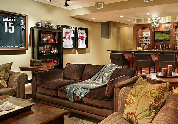 Man Cave Nj : Framed jerseys from sports themed teen bedrooms to