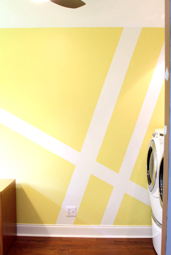 Geometric laundry room wall mural