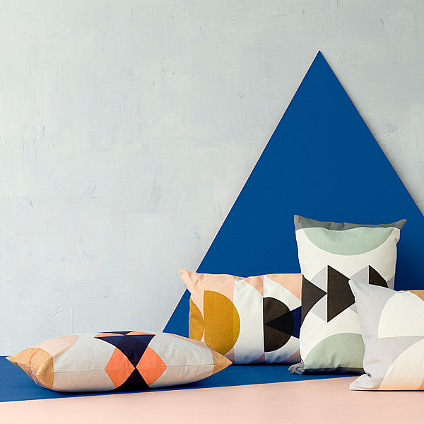 Geometric pillows from ferm LIVING Make A Creative Statement With A New Throw Pillow