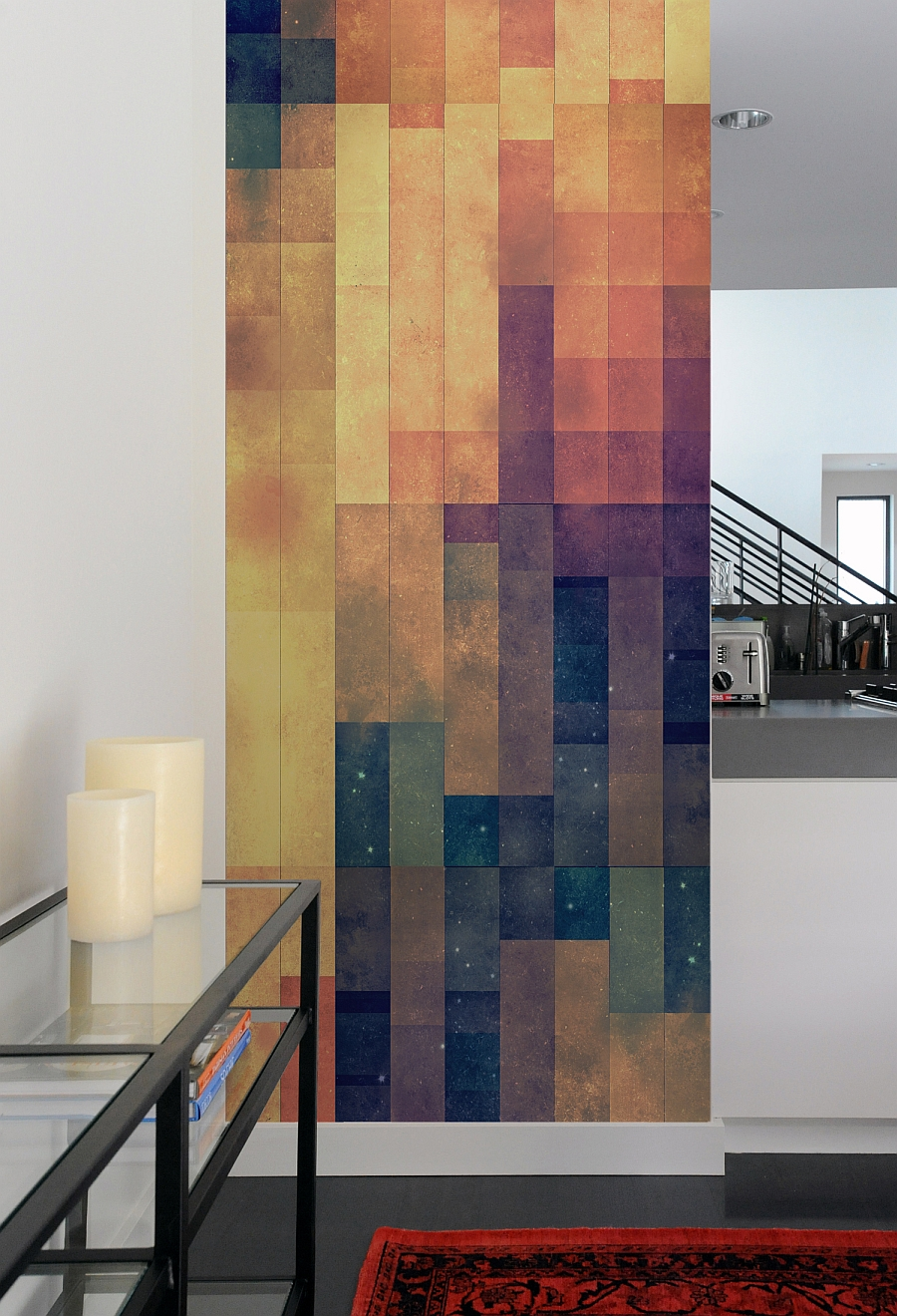 Create a captivating accent wall with geometric patterned for Modern accent decor