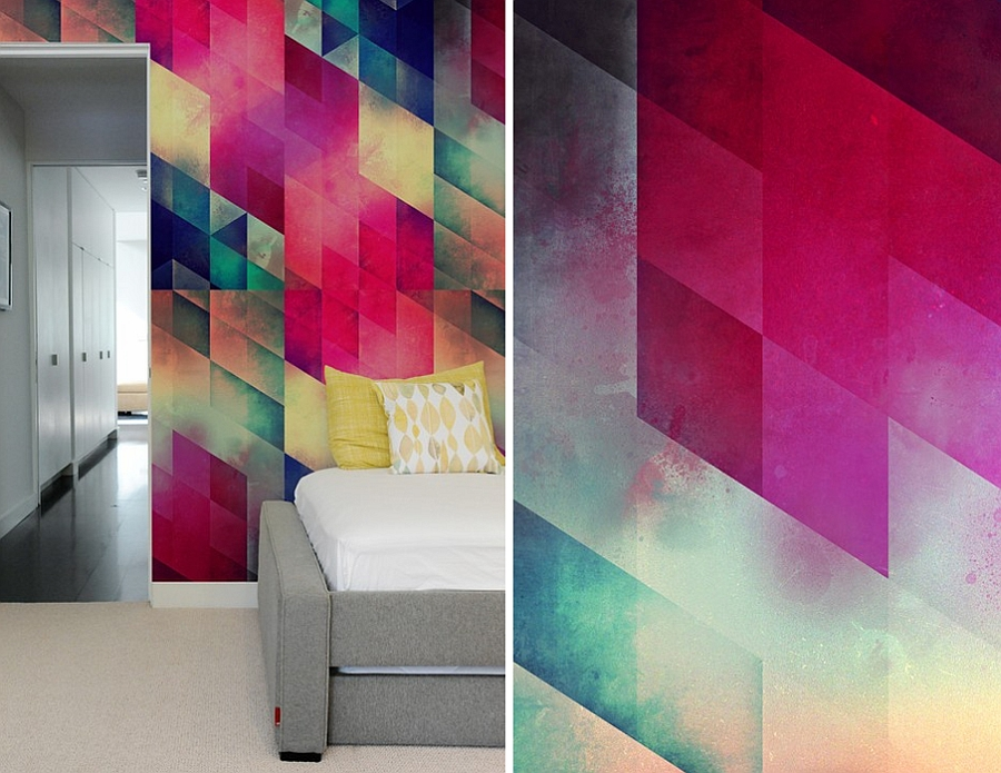 Geometric wall tile designs that can easily create accent walls