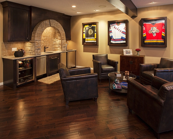 Classy Man Cave Art : Framed jerseys from sports themed teen bedrooms to