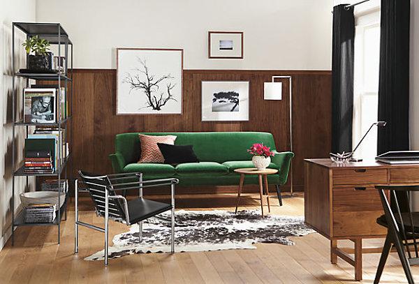 Green murphy sofa