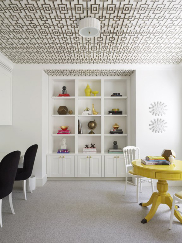 Design Trend Wallpaper Featured On The Ceiling