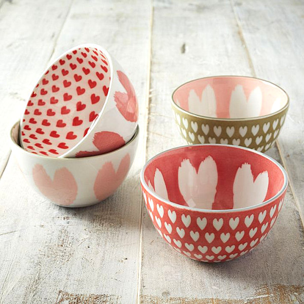 Heart motif bowls Valentines Day Gift Ideas For The Design Lover In Your Life