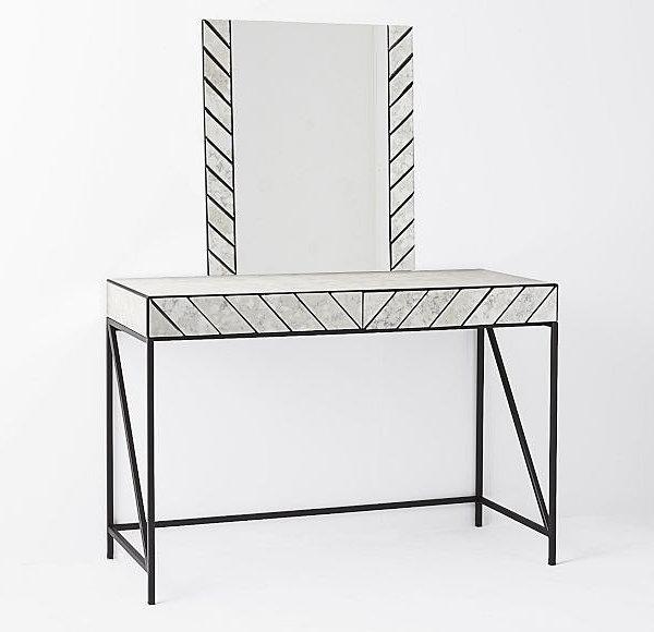 Herringbone-pattern vanity