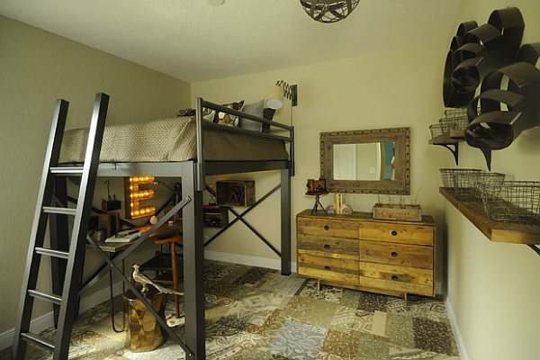 bunk bed design industrial style bedroom with an ingenious loft bed