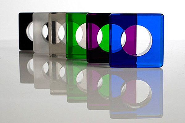 Jewel-toned acrylic napkin rings