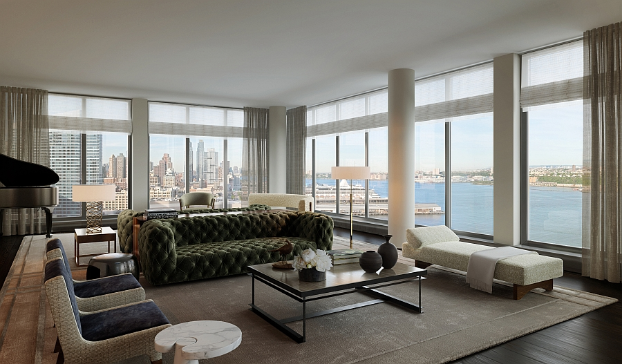 Luxury waterfront condominium with expansive views of nyc for Sofas in nyc