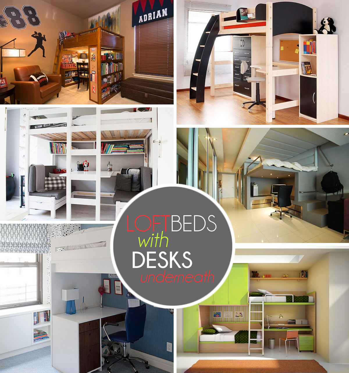 Loft Beds with Desks Underneath