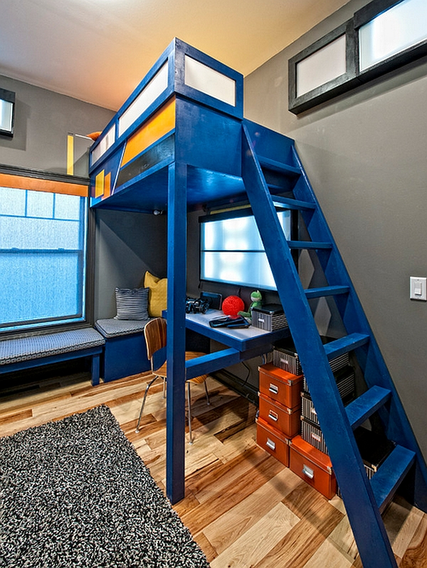 Loft bunk draws your attention instantly with the bright color