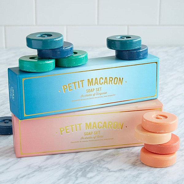 Macaron-style soap