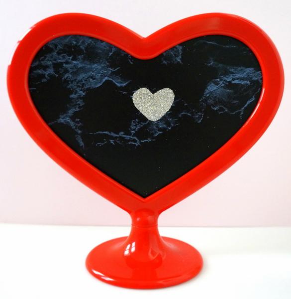 Marble glitter valentine