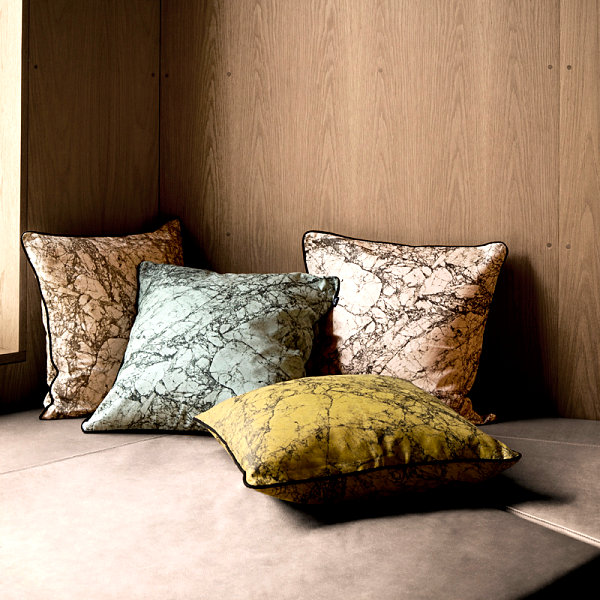 Marble-pattern pillows from ferm LIVING