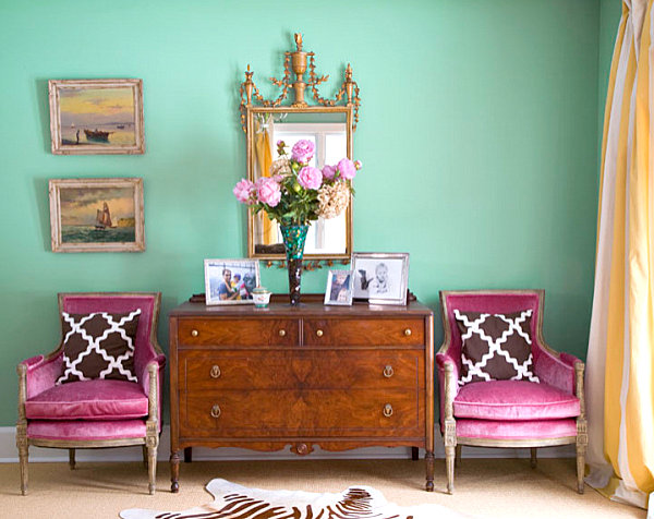 Mint and purple make a stunning combination